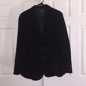 Lane Bryant brushed cotton black blazer